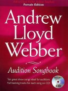 Sheet Music + Playback-CD AUDITION SONGBOOK FOR FEMALE: ANDREW LLOYD WEBBER