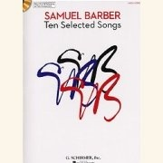 Sheet Music + Playback-CD BARBER, SAMUEL - TEN SELECTED SONGS \(LOW VOICE\)