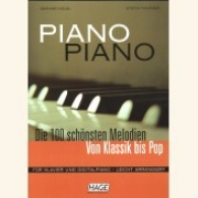 Sheet Music + Playback-CD PIANO PIANO - 100 BEAUTIFUL MELODIES FROM CLASSIC TO POP \(PIANO SOLO\)