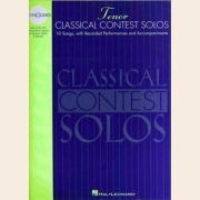 Sheet Music + Playback-CD CLASSICAL CONTEST SOLOS FOR TENOR