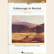 Sheet Music + Playback-CD FOLKSONGS IN RECITAL: HIGH VOICE