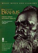 Sheet Music + Playback-CD BRAHMS, JOHANNES - CLARINET QUINTET IN B-MINOR, OP. 115 \(CLARINET\)