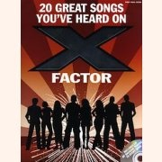 Sheet Music + Playback-CD 20 GREAT SONG YOU\'VE HEARD ON X FACTOR