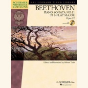 Sheet music BEETHOVEN: PIANO SONATA No.11 In B Flat Op.22 \(+Demo-CD\)